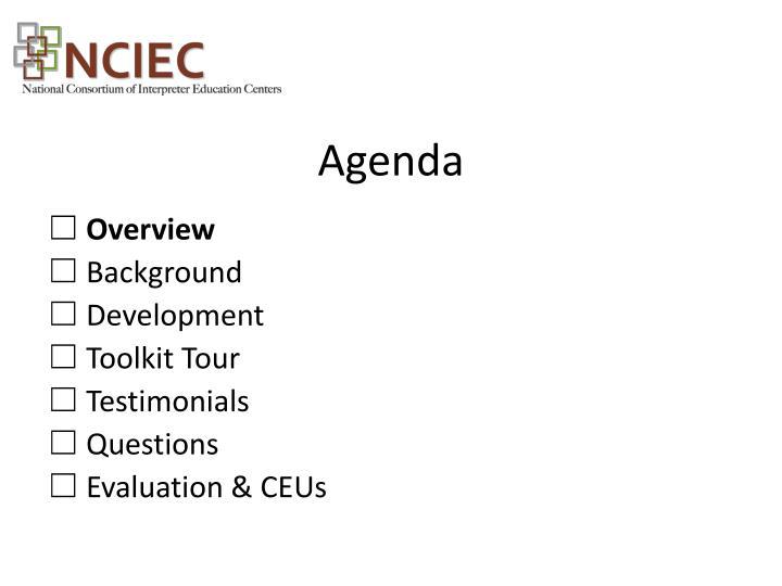 Agenda