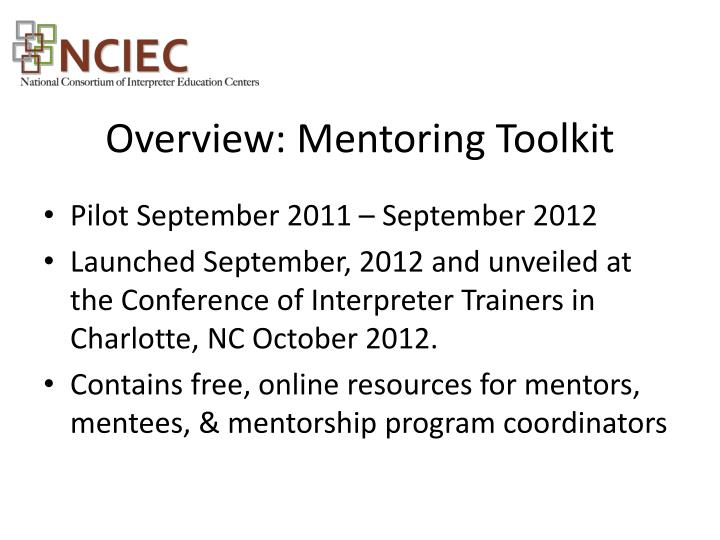 Overview: Mentoring Toolkit