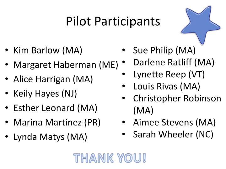 Pilot Participants