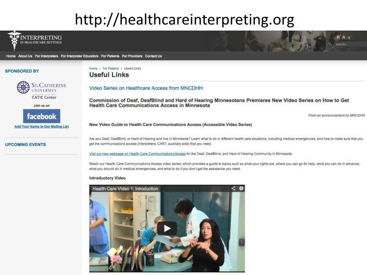 http://healthcareinterpreting.org