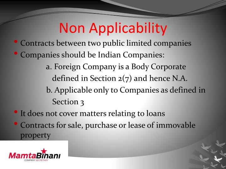Non Applicability