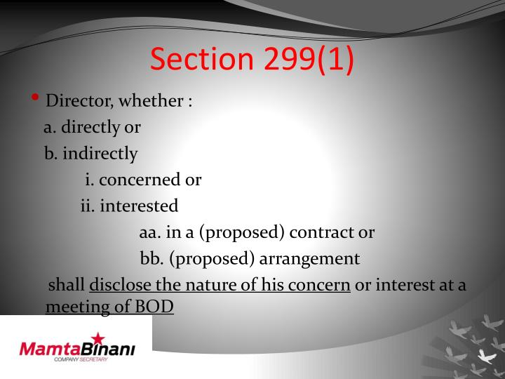 Section 299(1)