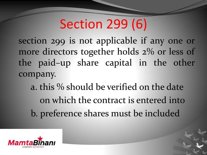 Section 299 (6)