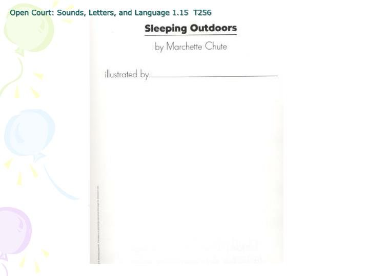 Open court sounds letters and language 1 15 t256