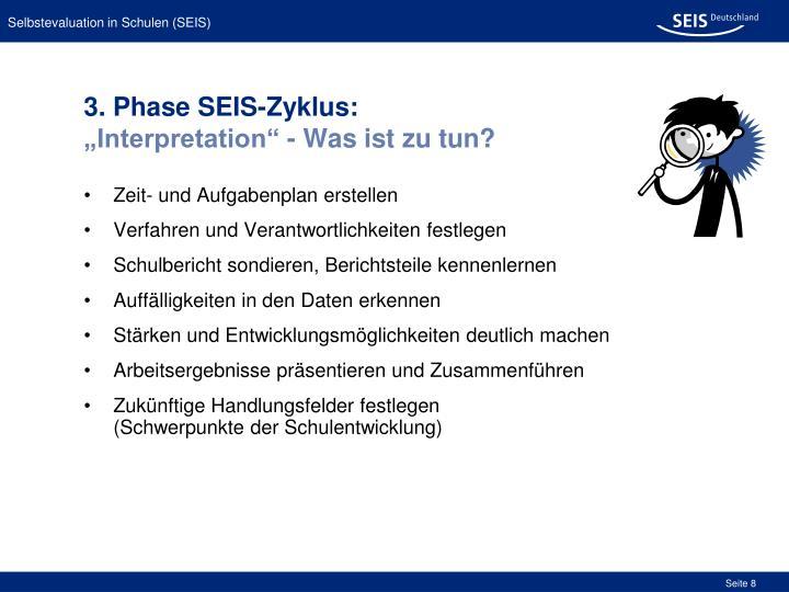 3. Phase SEIS-Zyklus:
