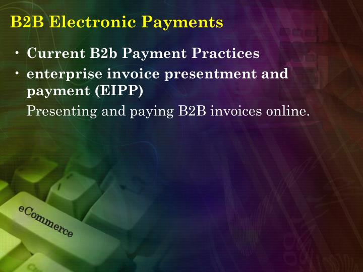 B2B Electronic Payments