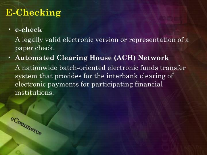 E-Checking