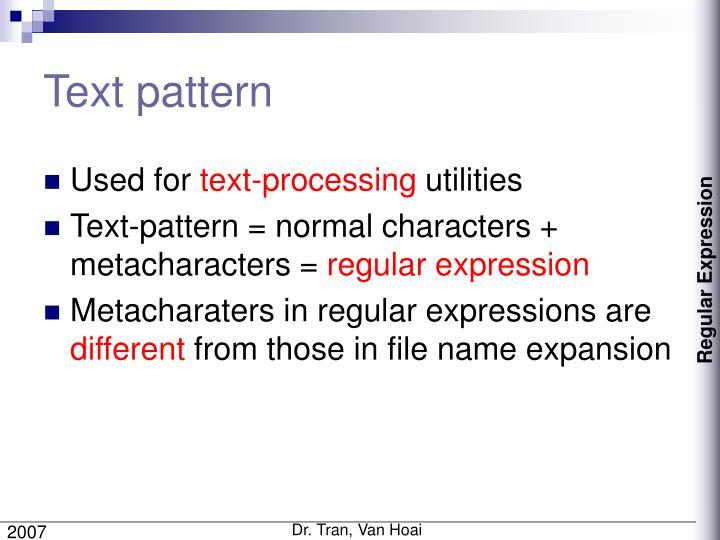Text pattern