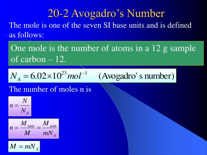 The mole is one of the seven SI base units and is defined as follows: