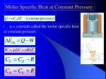 molar specific heat at constant pressure