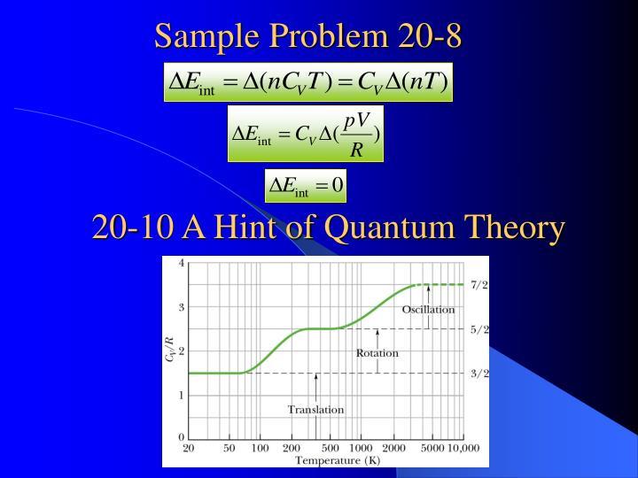 Sample Problem 20-8