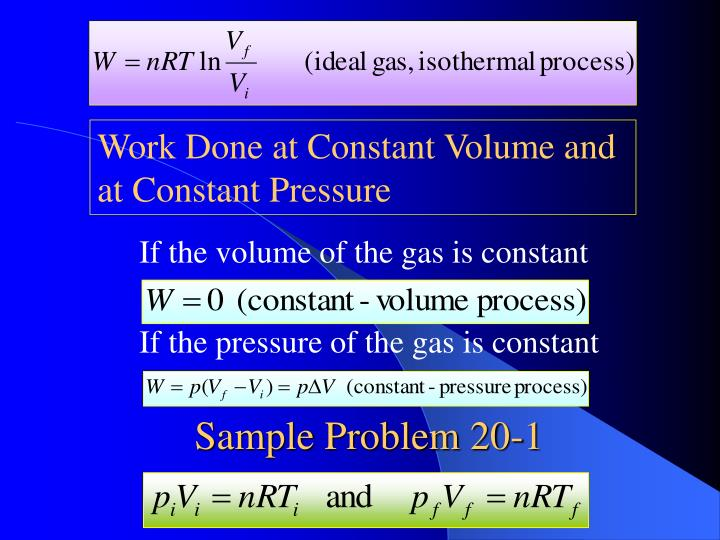 If the volume of the gas is constant