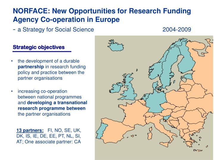NORFACE: New Opportunities for Research Funding Agency Co-operation