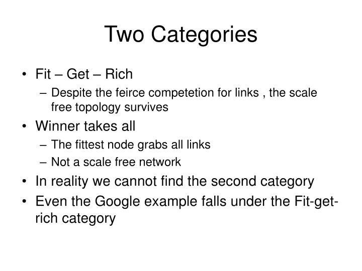 Two Categories