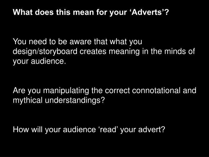 What does this mean for your 'Adverts'?