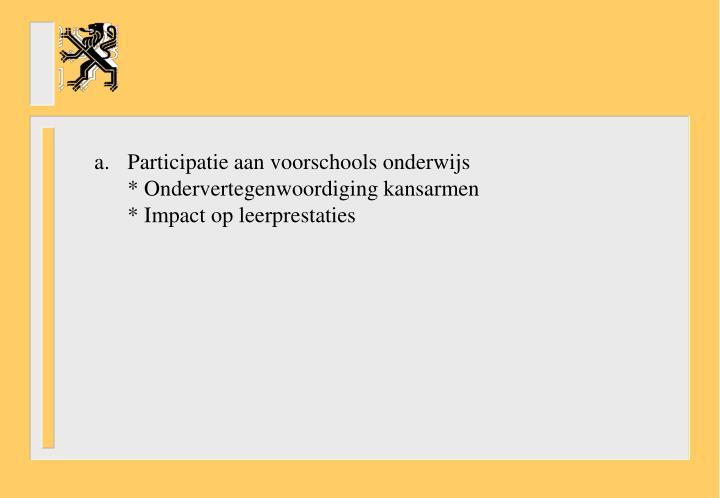 Participatie aan voorschools onderwijs