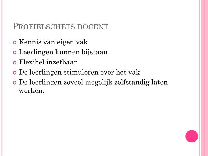 Profielschets docent