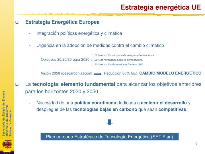 Estrategia energética UE