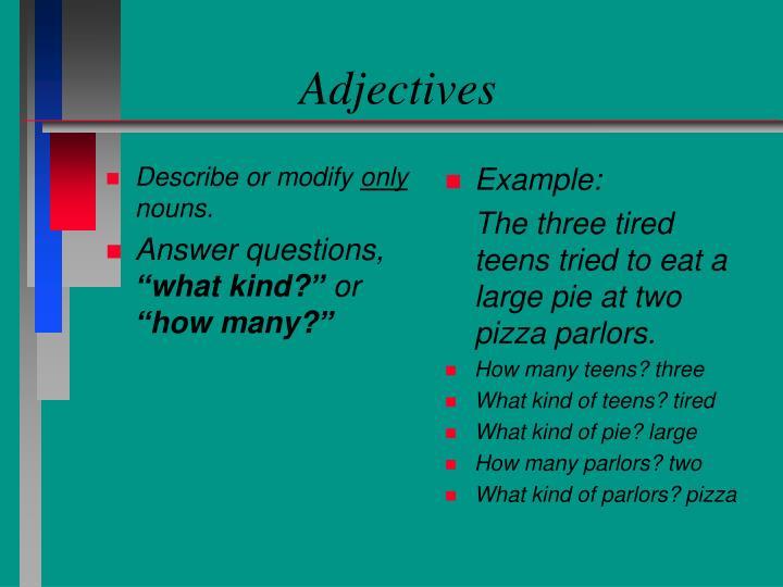 Describe or modify