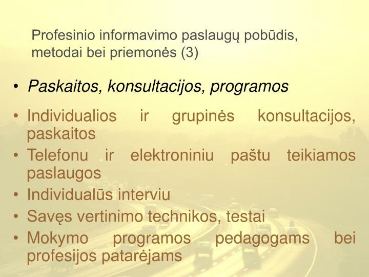Profesinio informavimo paslaugų pobūdis, metodai bei priemonės (3)