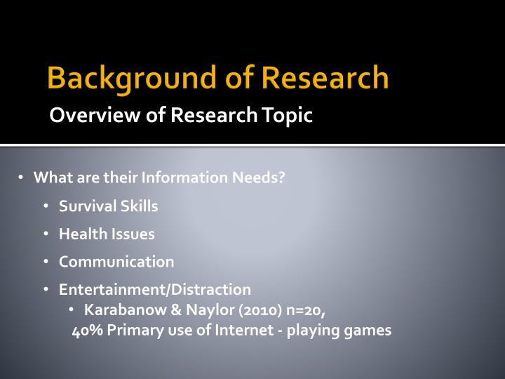 Background of research1