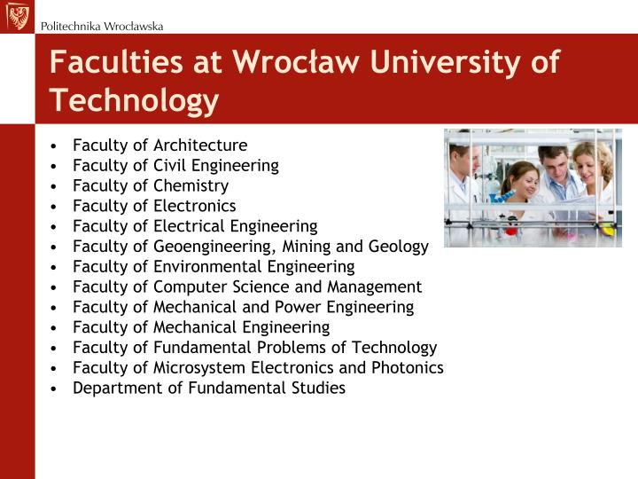 Faculties at Wrocław University of Technology