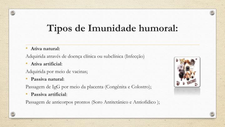 Tipos de Imunidade