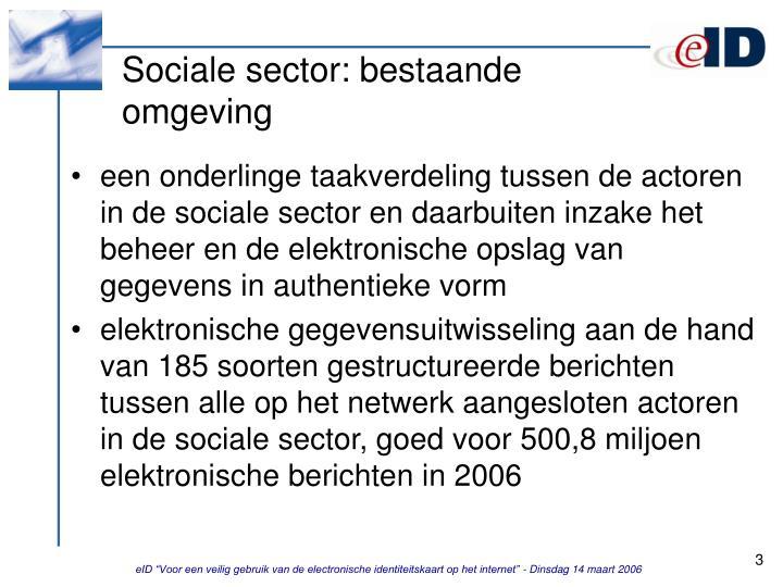 Sociale sector: bestaande omgeving