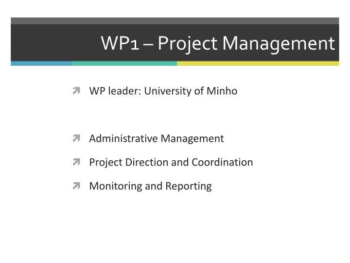 WP1 – Project Management