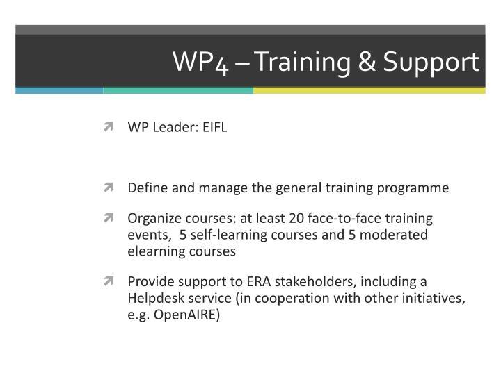 WP4 – Training &