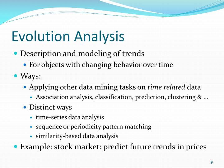 Evolution Analysis