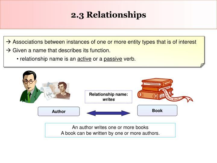 2.3 Relationships
