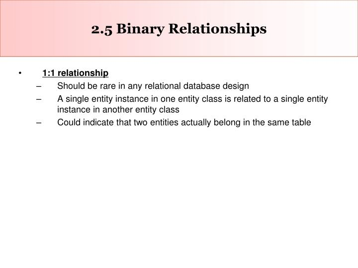 2.5 Binary Relationships