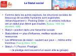 le statut social