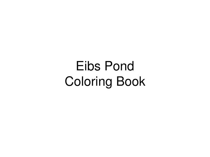 Eibs pond coloring book