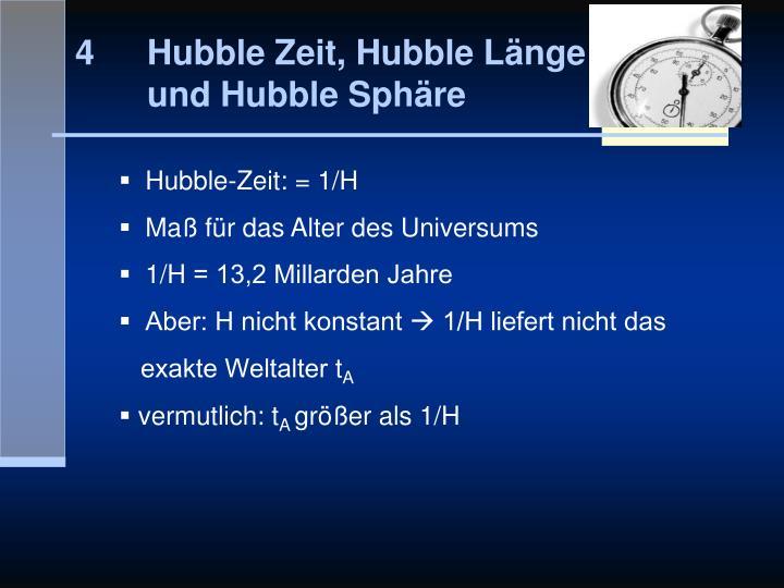Hubble Zeit, Hubble Länge