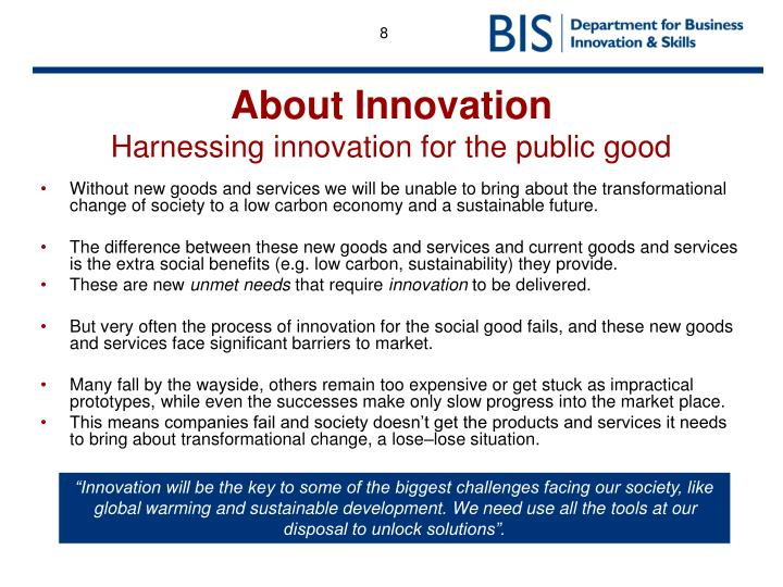 About Innovation