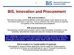 bis innovation and procurement