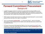 forward commitment procurement background