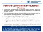 forward commitment procurement definitions