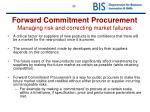 forward commitment procurement managing risk and correcting market failures