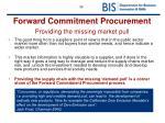 forward commitment procurement providing the missing market pull