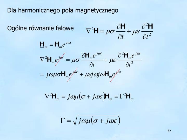 harmoniczne pole magnetyczne