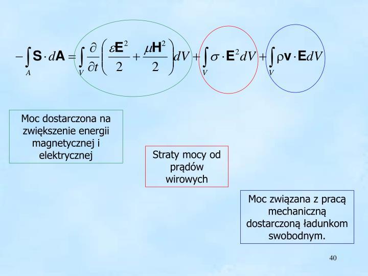 Moc dostarczona na zwiększenie energii magnetycznej i elektrycznej
