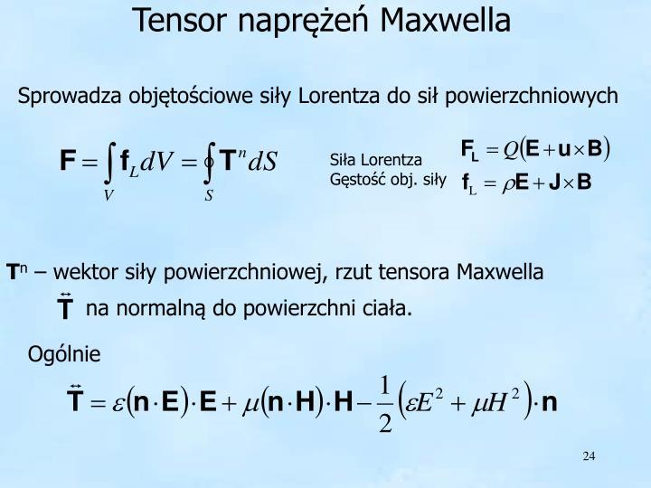 Tensor naprężeń Maxwella