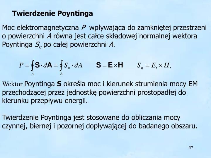 Twierdzenie Poyntinga