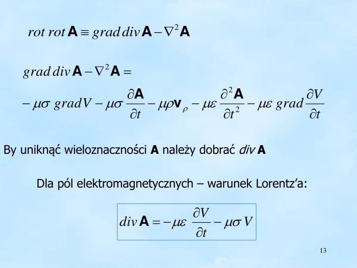 warunek Lorentz'a