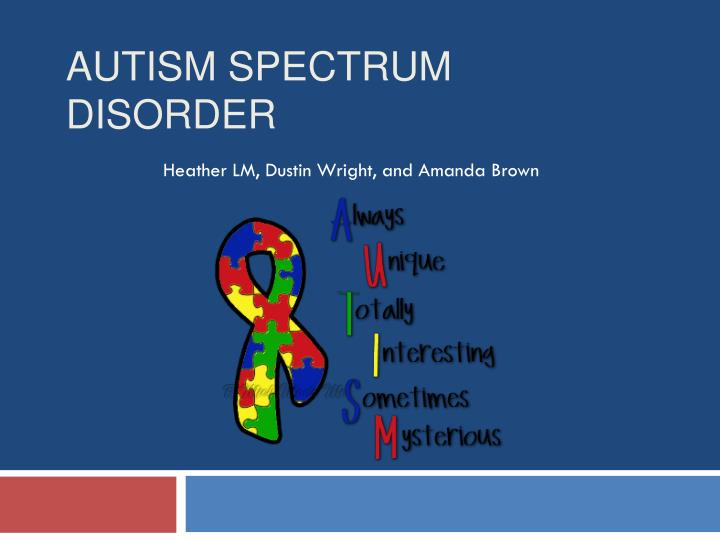 defining autistic spectrum disorder