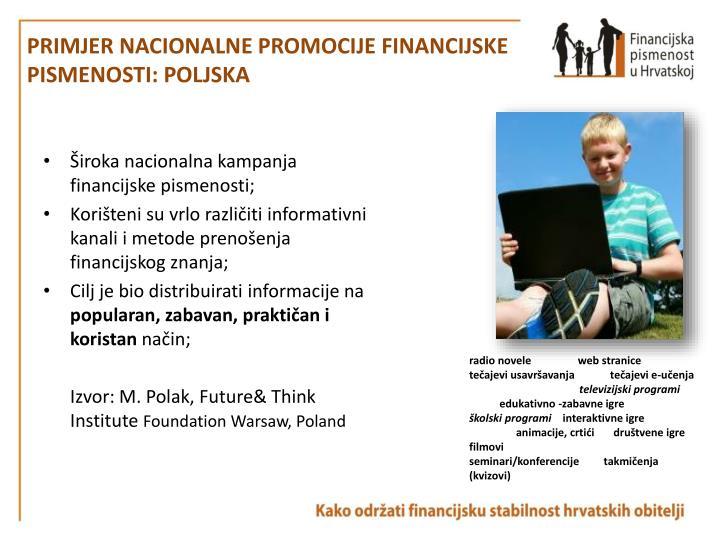 Primjer nacionalne promocije financijske pismenosti: Poljska