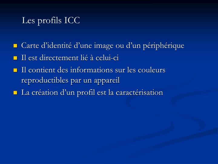 Les profils ICC